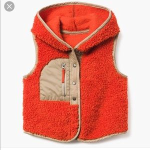 NWT Gymboree Hooded Sherpa Vest